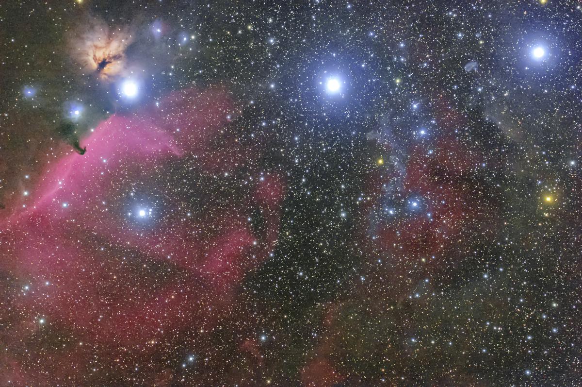 オリオン三ツ星付近
