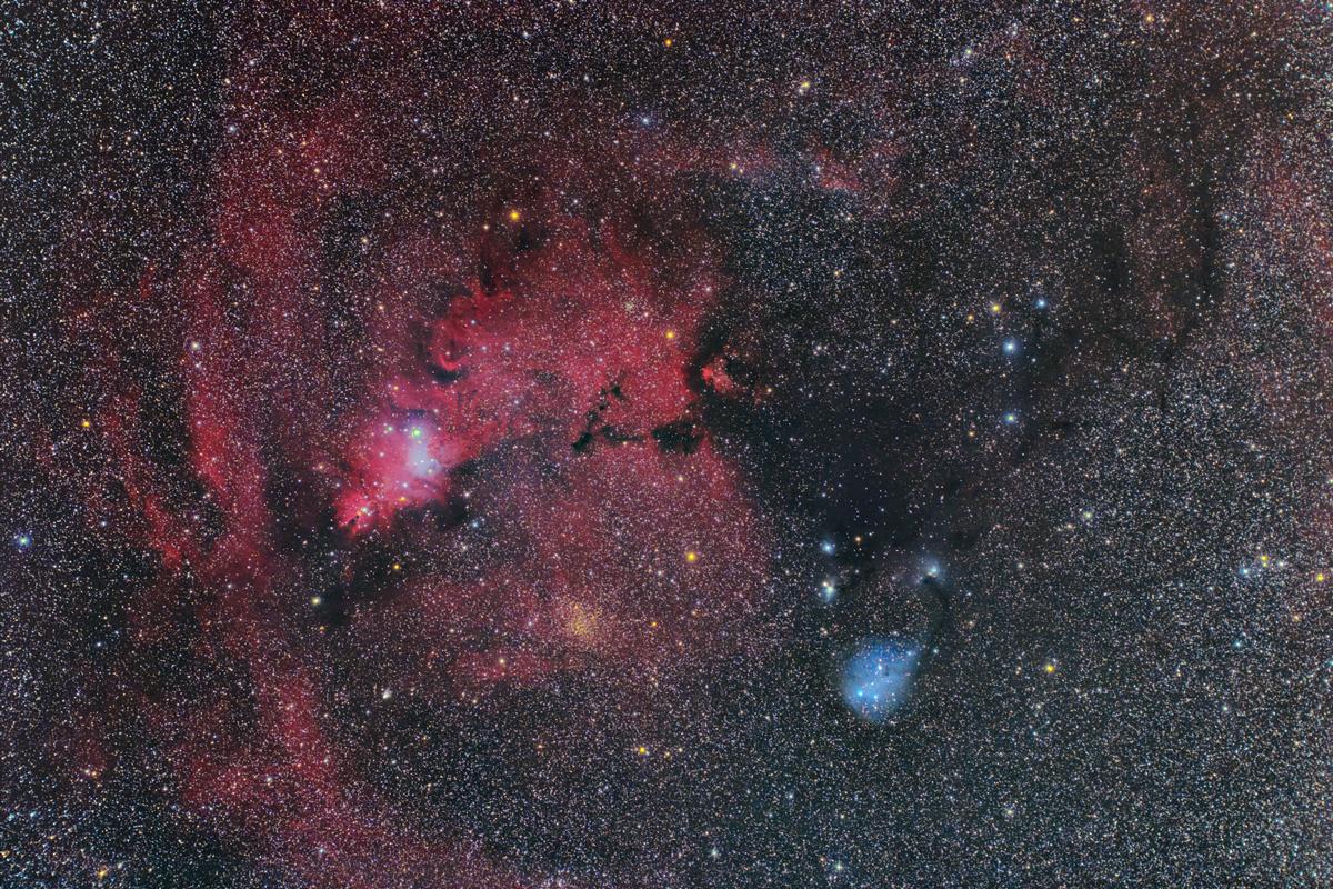 コーン星雲付近