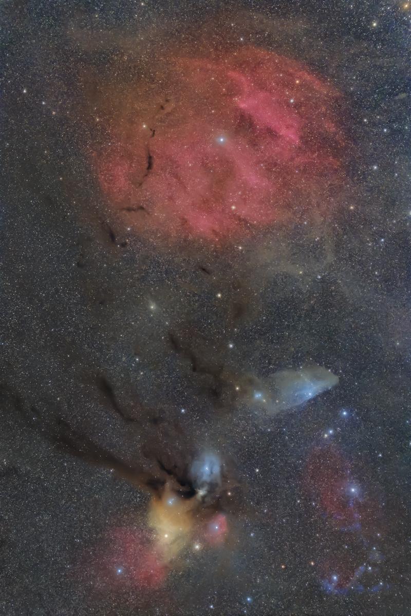 へびつかい~さそり座北部の星雲