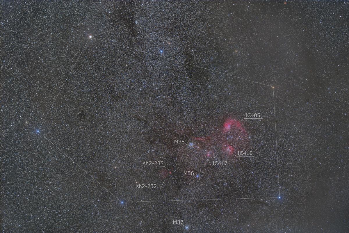 ぎょしゃ座の星雲